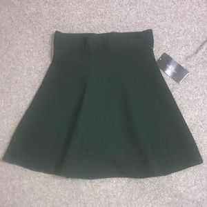 Zara Dark Green Tweed Skater Skirt. New with Tags.